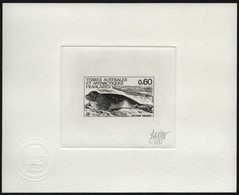 TAAF 1984 - Mi-Nr. 184 ** - MNH - Epreuve D`Artiste - Black - Robben / Seals - Sin Dentar, Pruebas De Impresión Y Variedades