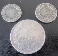 Belgique - 3 Monnaies : 5 Et 10 Centimes 1862 Leopold I + 5 Francs 1 Belga 1933 - Collezioni
