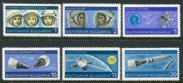 BULGARIA 1967 Space Exploration MNH / **.  Michel 1758-63 - Nuevos