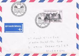 39943. Carta Aerea BRUXELLES (Belgien) 1993. Emision Touristique BONNEVALLE Chateau - Storia Postale