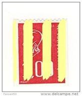 Bequet 1fr Rouge De Roulette YT 1895b Avec 4 Bandes Phospho . Superbe Et Pas Courant , Voir Le Scan . Cote YT : 10 € . - Varietà: 1970-79 Nuovi