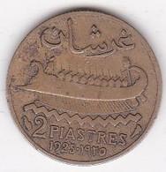 ETAT DU GRAND LIBAN. 2 PIASTRES 1925, Type à La Trirème. - Lebanon
