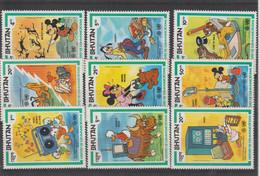 Disney Bhoutan 1984 608-616 9 Val ** MNH - Disney