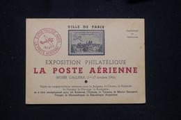 FRANCE - Carte Postale De L'Exposition Philatélique De La Poste Aérienne De Paris En 1943 - L 93672 - Poste Aérienne