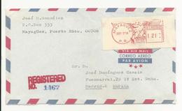 Cover Puerto Rico Mayagüez 1974 Registered - Sonstige - Amerika