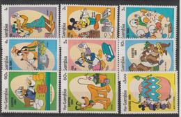 Disney Gambie 1984 501-509 9 Val ** MNH - Disney