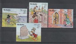Disney Gambie 1990 945-948 4 Val ** MNH - Disney