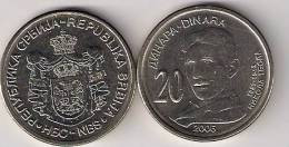 Serbia 20 Dinara 2006. Nikola Tesla High Grade - Serbia