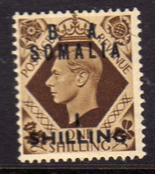 SOMALIA BA 1950 B.A. NUOVO VALORE 1 SHILLING SU 1s MNH - Somalia
