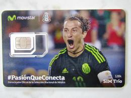 SIM GSM   MEXICO   MOVISTAR    FOOTBALL TOP MINT - Mexico
