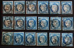 CERES.n°60.O  LOT De 18 Ex. - 1871-1875 Ceres