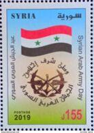 Syria 2019 NEW MNH Stamp - Army Day - Flag - Siria
