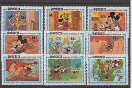 Disney Mongolie 1984 1327-1334A 9 Val ** MNH - Disney