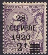 MONACO  N* 50 Charniere - Unused Stamps