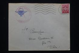 FRANCE - Cachet De Vaguemestre Du 6ème RPIMa De Biscarosse Sur Enveloppe En Fm Pour Lyon En 1963 - L 93690 - 1961-....