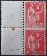 R1491/262 - 1932/1933 - TYPE PAIX - N°283 (I) Tenant Au N°283 (III) NEUFS** - Varietà: 1931-40 Nuovi