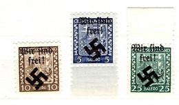 Allemagne/Occupation Des Sudètes/Sudetenland Trois Timbres Neufs ** MNH. TB. A Saisir! - Sudetenland