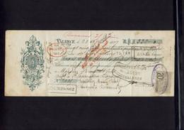 Mandat D'ordre De Mr Achille DUCROS émis à VALENCE En Avril 1897 ( Voir Détails De La Ventilation  Au Dos) - Cheques & Traveler's Cheques