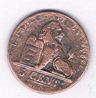 5 CENTIMES 1853 (mintage 705000 Ex) BELGIE /2762/ - 03. 5 Centimes