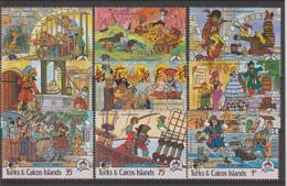 Disney Turks Et Caicos 1985 749-757 9 Val ** MNH - Disney