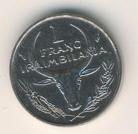 MADAGASCAR 1982: 1 Franc, KM 8 - Madagascar