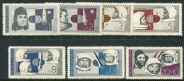 BULGARIA 1966 Soviet Cosmonauts MNH / **.  Michel 1647-53 - Nuevos