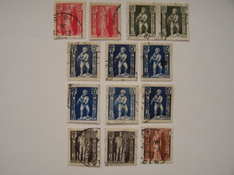 FRANCE ALGERIE FRANCAISE 1952 13 X Statuaire Antique D'Algérie, Oblitérés, Nuances Sur Les 15f Et Paire Pour Les 20f - Oblitérés