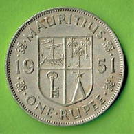 MAURITIUS / KING GEORGE THE SIXTH / ONE RUPEE / 1951 - Mauritius