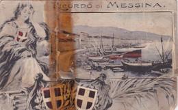 Messina - Ricordo Di Messina Con 9 Vedutine All'interno Della Cartolina Datata 1908 - Messina