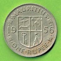MAURITIUS / QUEEN ELISABETH THE SECOND  / ONE RUPEE / 1956 - Mauritius