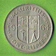MAURITIUS / QUEEN ELISABETH THE SECOND  / ONE RUPEE / 1964 - Mauritius