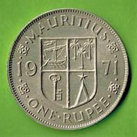 MAURITIUS / QUEEN ELISABETH THE SECOND  / ONE RUPEE / 1971 - Mauritius