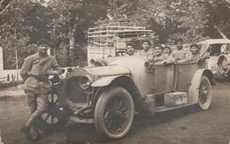 Carte-photo   -  Automobile DE DION BOUTON Avec Militaires - Guerra 1914-18