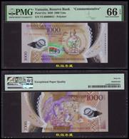 Vanuatu 1000 Vatu (2020), Commemorative, Polymer,folder,Low Number #41, PMG66 - Vanuatu