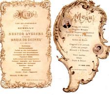 2 Menus 1895 - 1900 - Menú
