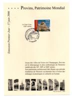 Emission Premier Jour - 17 Juin 2006... Provins, Patrimoine Mondial - Documenten Van De Post