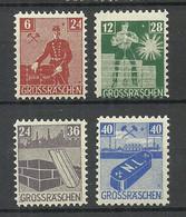 Germany Deutschland 1945/46 Grossräschen Lokalausgabe Michel 43 - 46 MNH - Sonstige