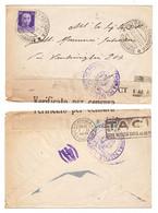 WQ126     Regno 1942 - Busta Da Palermo Per Catania, Timbri E Fascetta Verificato Per Censura - Poststempel