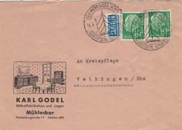 Karl Godel Mühlacker - Süddeutsche Senderstadt 1955 > Vaihingen - Illustriertes Kuvert - Covers & Documents