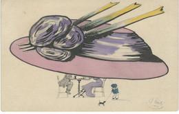 Illustrateur REINITZ 1909  - Femme - Mode - Chapeau - BKWI 400-2 - Courrier De 1910 - Other Illustrators