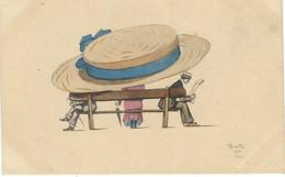Illustrateur REINITZ 1909  - Femme - Mode - Chapeau - BKWI 340-5 - Other Illustrators