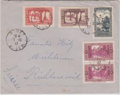 Algerien - 75 C. Landesansichten U.a. Brief I.d. SCHWEIZ Rivet 1937 - Non Classificati