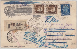 Italien - Fiume 1930 Illustr. Firmenpostkarte Einschreiben N. UNGARN - Irrläufer - Sin Clasificación