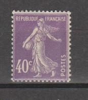 Semeuse Grasse 40c Violet - 1906-38 Semeuse Camée