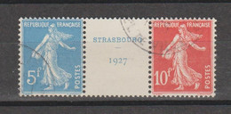 Exposition De Strasbourg N°242A - Used Stamps