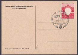 Generalgouvernement - Tag Der NSDAP 1943 - Karte Krakau - Occupazione 1938 – 45