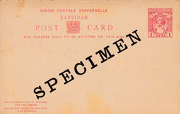 Carte Entier Postal Post Card SPECIMEN - Zanzibar (1963-1968)