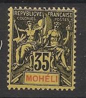 Mohéli - 1906 - N°Yv. 9 - Type Groupe 35c Noir - Neuf Luxe ** / MNH / Postfrisch - Ungebraucht