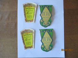 4 ETIQUETTES HOSI PARFUMEUR - Labels