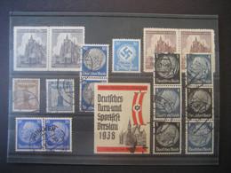 Deutsches Reich Zusammendrucke- Hindenburg, Waag- Und Senkrechte Paare Senkr. Dreierstreifen Und Anderes Gebraucht - Se-Tenant